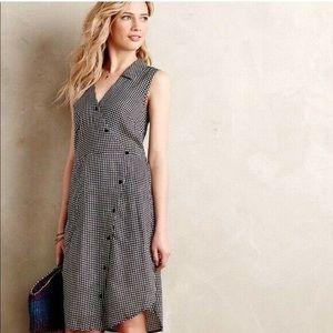 Anthropologie 11.1 tylho gingham wrap dress